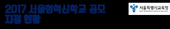 2017 서울형혁신학교 공모지정 현황